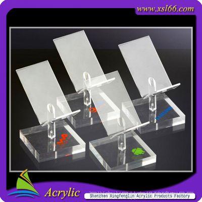 深圳有机玻璃手机展架 安卓系统亚克力手机展架 各大品牌手机展架