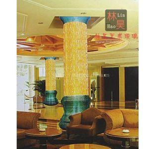 佛山林昊玻璃厂订制热熔玻璃 叠烧玻璃 酒店、夜场大堂装饰柱LH-Y004