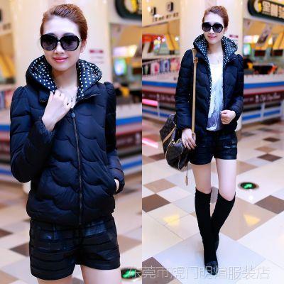 2014新款冬季品牌女装保暖女士外套加绒加厚羽绒服韩版连帽女上衣