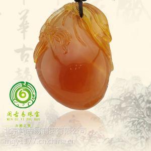 供应北京蜜蜡收藏级波罗的海蜜蜡北京出售 琥珀收藏级寿桃 闽古易北京琥珀蜜蜡批发零售
