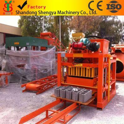 小型免烧砖机全套生产线出口、水泥空心砖机、水泥实心砖机QTJ4-26C