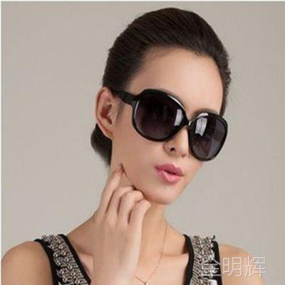 批发希尔顿百搭女士太阳镜潮流墨镜蛤蟆镜女款大框太阳眼镜 3113