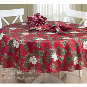 供应外贸美式乡村欧式地中海风格餐垫桌旗桌布圣诞节红花长度可订制 艺舒印花