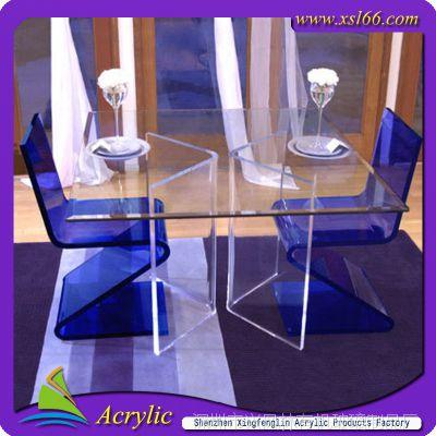 厂家生产定制有机玻璃/亚克力/压克力桌椅/桌类/茶几