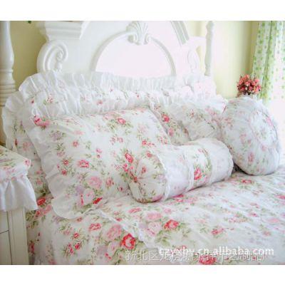 厂家直销 浪漫邂逅田园韩版床品套件 韩版全棉斜纹活性印花床品