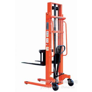 供应优力手动堆高叉车、手摇液压堆高叉车、手动液压搬运车