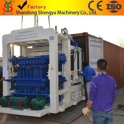 厂家直销QT10-15大型全自动液压砌块成型机生产线 全套砖机设备出口非洲