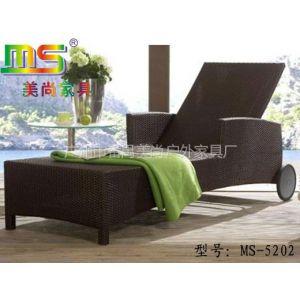 供应厂家直销PE编藤铝合金支架沙滩椅