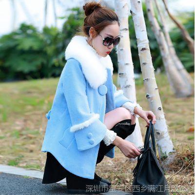 新款女装初冬毛呢外套女大衣秋冬装中长款显瘦韩版羊绒呢大衣