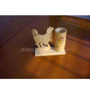 供应竹子雕刻-麒麟笔筒