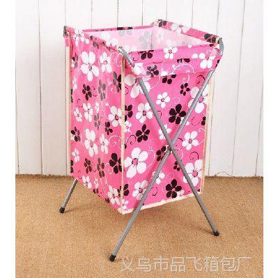 厂家订做品飞 折叠式脏衣篮 覆膜无纺布脏衣篮 可订做花色