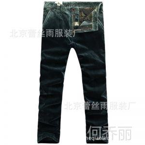 供应2013afsjeep战地吉普正品新款男装休闲裤男士纯棉条绒裤批发