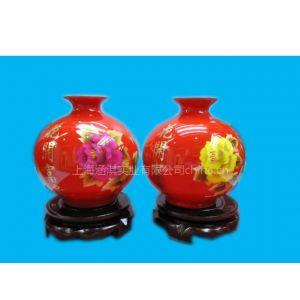 供应麦草画陶瓷工艺瓶/纯手工麦杆画制作陶瓷花瓶