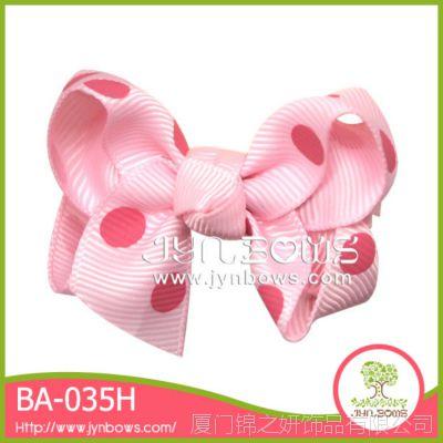 波点大蝴蝶结儿童发饰 儿童头饰现货低价供应BA-035A