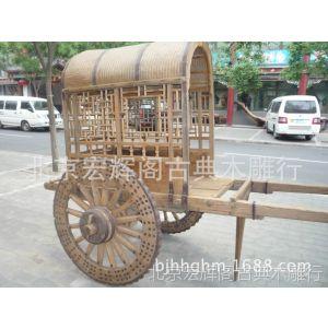 供应定做战国木质马车 仿古木质马车 古代马车道具 博物馆马车展示品