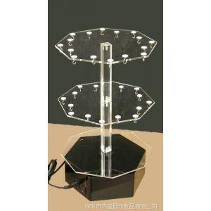 供应带挂钩亚克力小物品旋转架,有机玻璃挂饰架,旋转展示架