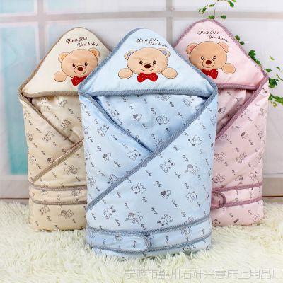 婴之友婴儿抱被新生儿纯棉包被宝宝春秋冬加厚可脱胆超柔抱毯