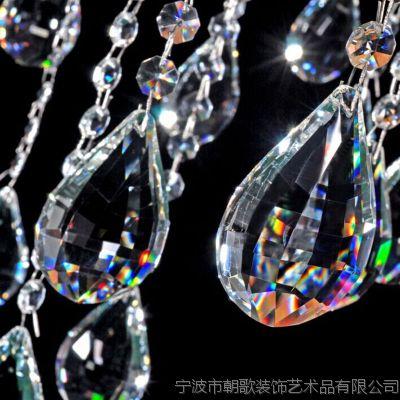 水晶灯天然水晶灯饰吊坠 水晶吊坠 水晶灯吊坠天然水晶刻面坠厂家