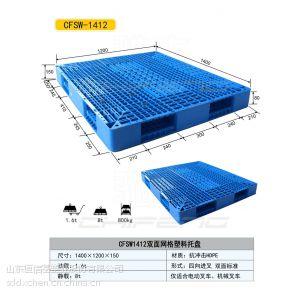 供应山东济宁邹城1412双面塑料托盘15866585112