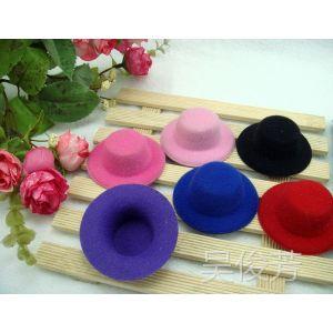 供应5.5厘米小礼帽配件 帽子配件 发饰 胸针 半成品 diy手工 儿童帽子