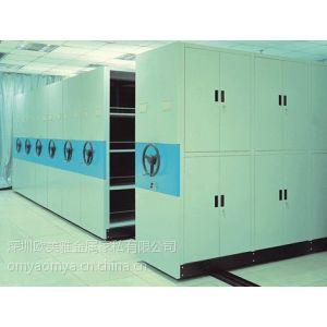 供应深圳南山档案密集柜厂家 可定做财务档案密集架 学校移动书架