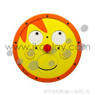 笑脸 橙色 木制启蒙幼儿玩具 环保 儿童木制游乐设备 墙面饰品