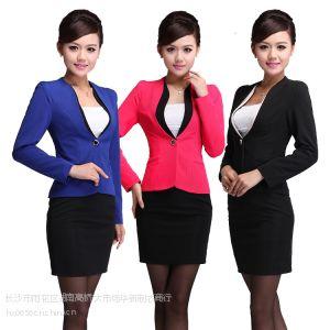 供应女式职业套装 秋冬工装 通勤ol修身时尚工作服女套装 经理领班服