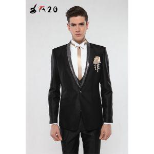 供应正品批发 2014正品男士结婚礼服 修身男士西服套装 韩版男职业西装