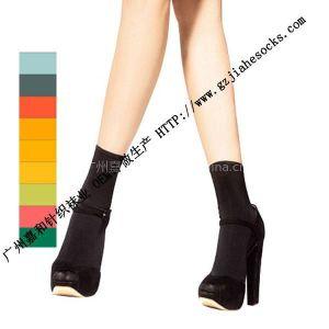 供应黑色短丝袜、短丝袜女士、女式短丝袜 针织黑色丝袜 糖果色丝袜