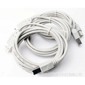 供应高速USB延长线 打印线 USB电脑线材厂家批发 3米打印线线批发