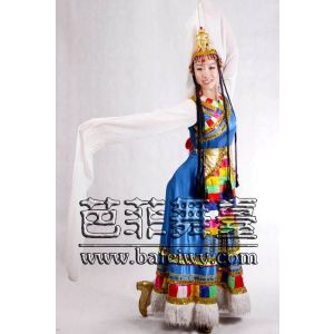 供应北京租西班牙大舞裙新疆舞蹈服装租赁哈萨克服装出租