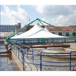 湖北,反吊氟碳纤膜结构,污水处理厂膜结构,耐酸碱膜 沼气膜