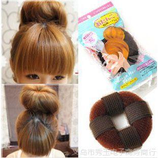 日系自粘款甜甜圈 头发增高器 蓬蓬垫 长发变短发盘发器30g