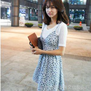 供应夏季新款韩版 浪漫唯美碎花图案性感吊带裹胸修身百搭连衣裙E345