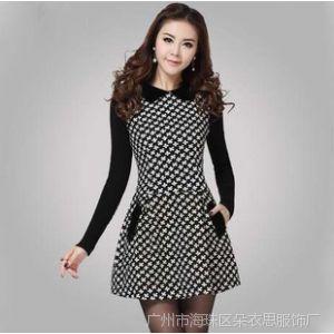 供应2014秋冬新款韩版修身气质OL长袖打底秋装连衣裙