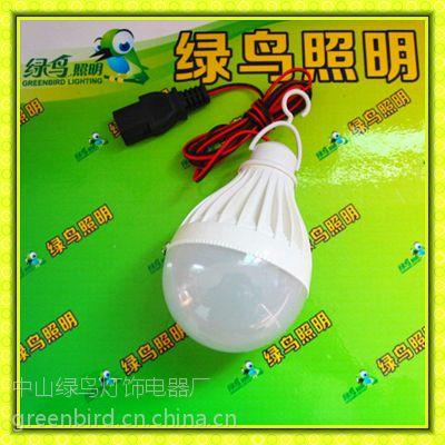 供应直流电动车48V球泡灯,蓄电池48V塑料球泡,地摊48V节能灯