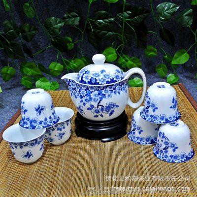 新款 厂家直销低价批发 高档德化青花陶瓷全套功夫茶具礼盒套装