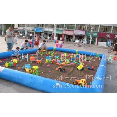 供应浙江温州儿童充气沙滩池价格充气玩具熊出没充气沙滩池