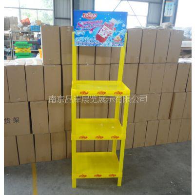 【厂家直销】果汁展会展柜养颜饮料商超展示架纤维饮品促销货架