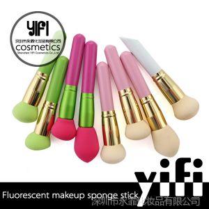 供应OEM定制 化妆用具生产厂家 多色荧光海棉棒 无现货