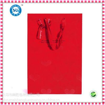 供应红色喜庆pp情人节礼品手提塑料袋