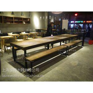 供应实木大板桌 复古长桌 工业风桌子 LOFT 桌子 美式乡村 铁艺餐桌 原木大班台