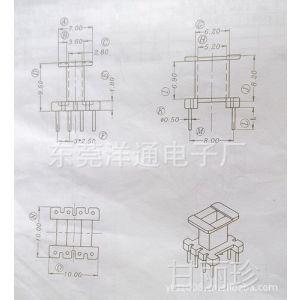 供应EE10 骨架 磁芯 YT-1003 尺寸图 立式骨架 4+4针