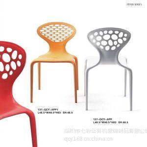 供应特价创意设计师 时尚经亚克力简约现代欧式单人休闲餐椅子 可订制