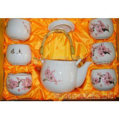 山东博山陶瓷茶具礼品茶具广告促销茶具