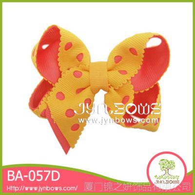 手工镂空蝴蝶结儿童发饰发夹 泡泡花头饰 BA-057D多色可选 可来样定制