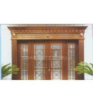 玻璃公寓铜门-多扇
