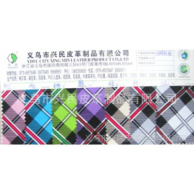 厂家直销PVC人造革 印花革 合成革 箱包革  发泡革 格子纺
