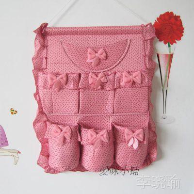布艺挂袋布艺 多层挂式收纳袋整理挂袋 收纳袋、置物袋