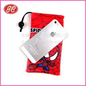 供应供应珠三角绒布手机袋 新款手机袋 束口袋